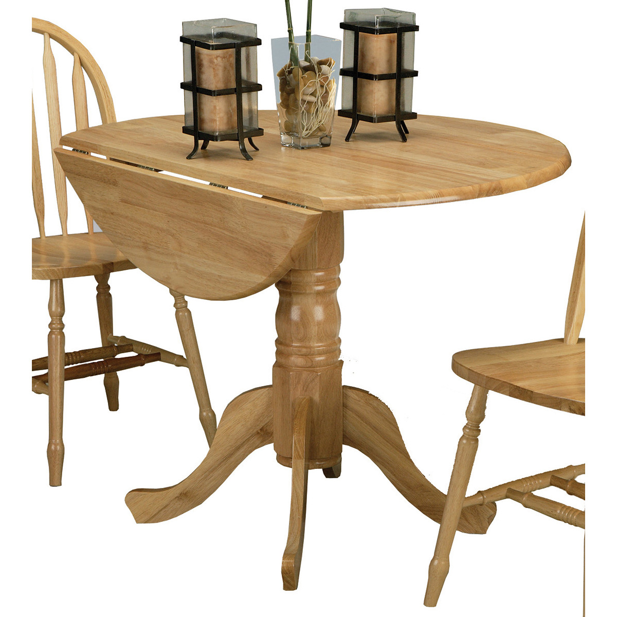 Most Recent 5140nadt Drop Leaf Pedestal Table Intended For Boothby Drop Leaf Rubberwood Solid Wood Pedestal Dining Tables (View 13 of 20)