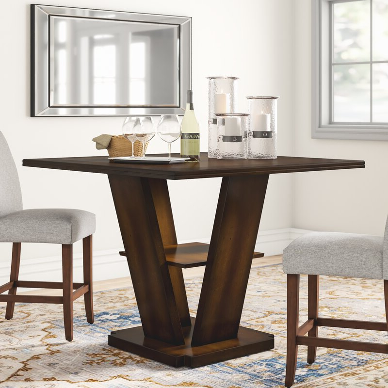Most Recent Dallin Bar Height Dining Tables Inside Three Posts Allenville Counter Height Dining Table (View 16 of 20)
