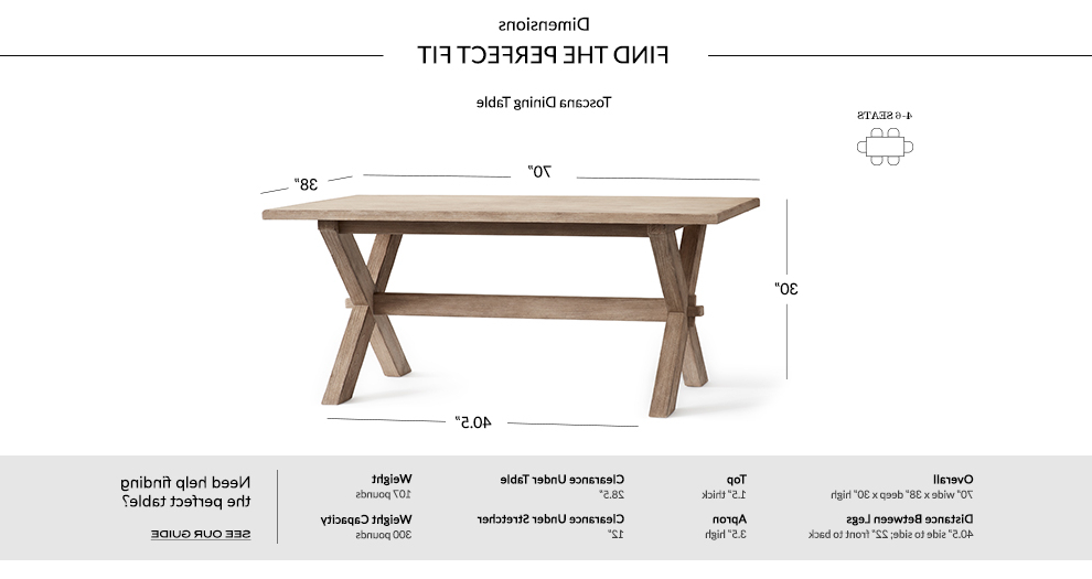 Most Recently Released Toscana Dining Table, Tuscan Chestnut (View 4 of 20)