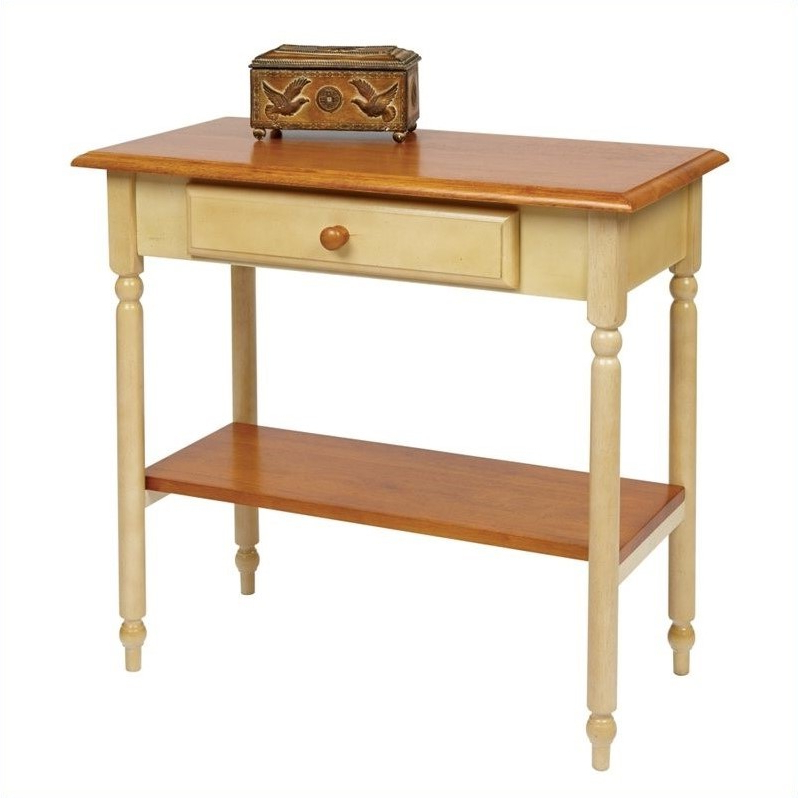 """Most Up To Date Foyer Table In Antique Yellow – Cc07 For Dionara 56"""" L Breakroom Tables (View 5 of 20)"""