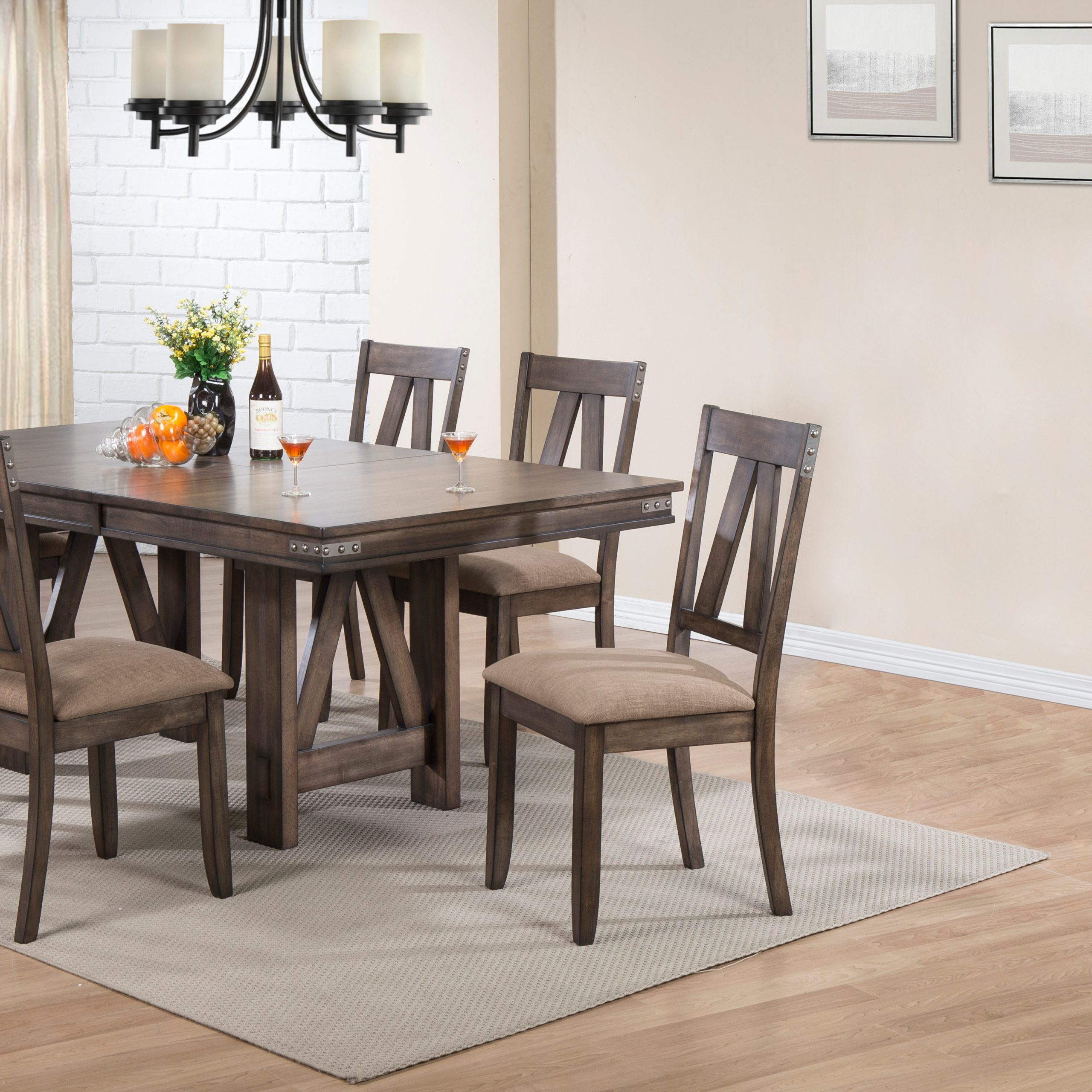 Newest Tudor City 28'' Dining Tables Intended For Nets 7 Piece Formal Dining Room Set, Brown Wood (View 4 of 20)