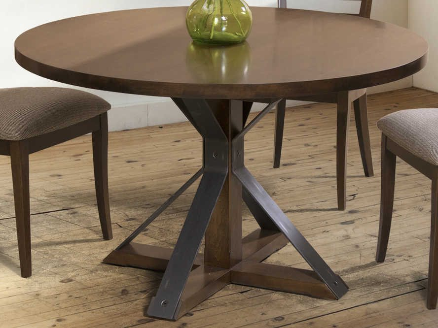 Preferred Corvena 48'' Pedestal Dining Tables Within Saloom Furniture Oracle 48'' Wide Round Cambridge Pedestal (View 12 of 20)
