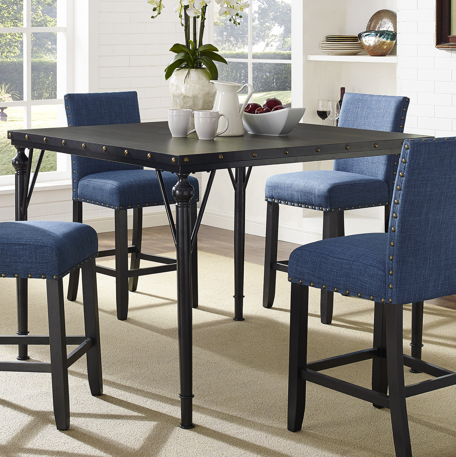 Featured Photo of Desloge Counter Height Trestle Dining Tables
