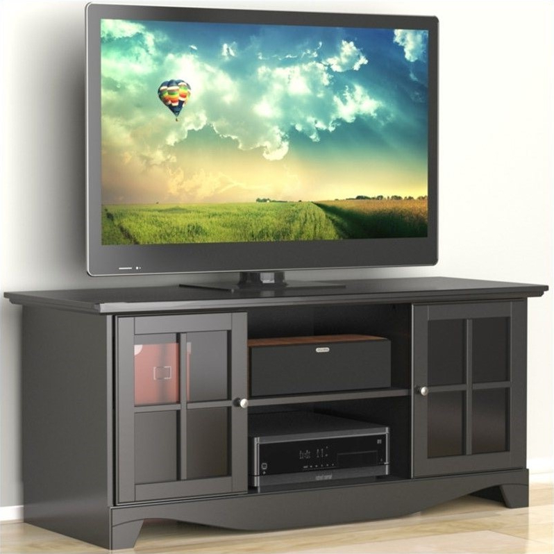 """Recent Dionara 56"""" L Breakroom Tables Inside 56"""" Tv Stand In Black – (View 10 of 20)"""