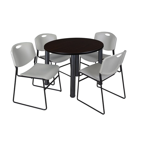 Regency Seating Kee Black 36 Inch Round Breakroom Table Intended For Newest Round Breakroom Tables And Chair Set (View 16 of 20)