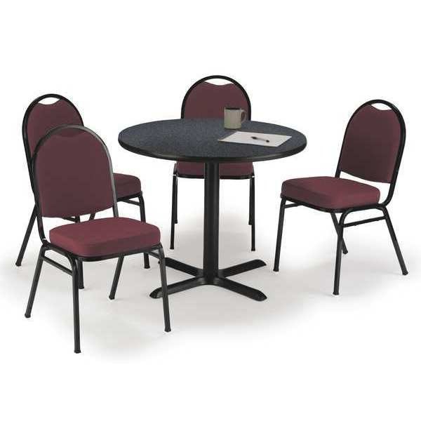 Round Breakroom Tables And Chair Set Intended For Latest Kfi T36rd B2025bk Gpn/im520bk Burgf $ (View 20 of 20)
