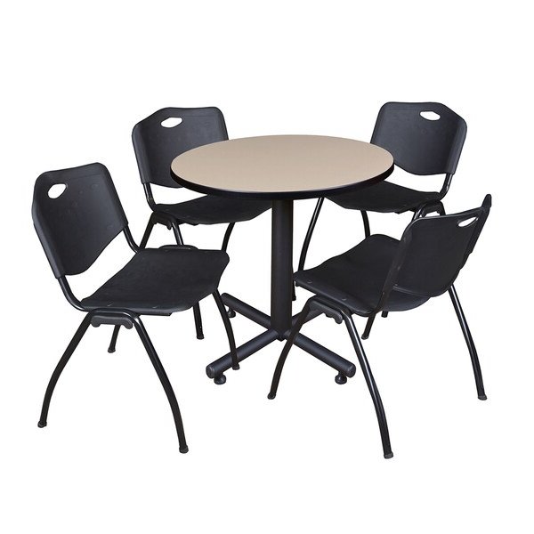 Round Breakroom Tables And Chair Set Throughout Newest Office Products Office Furniture & Accessories Mahogany (View 17 of 20)