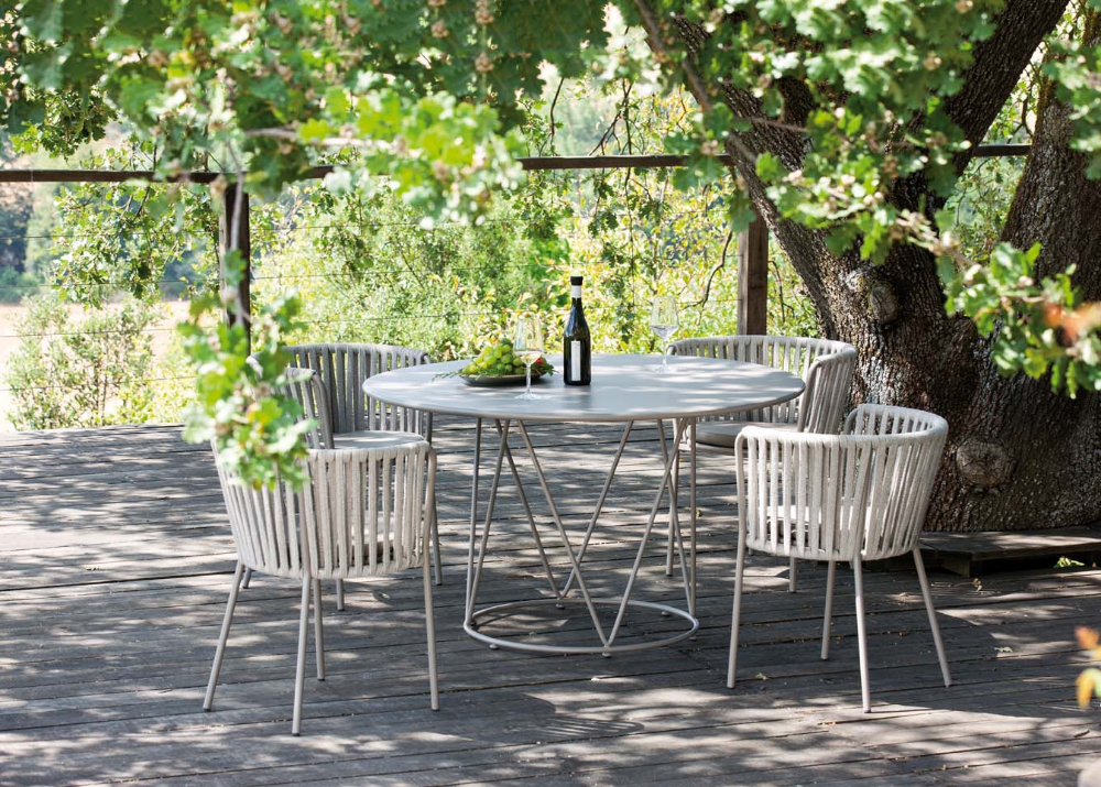 Round Outdoor Table In Desiree (View 4 of 20)