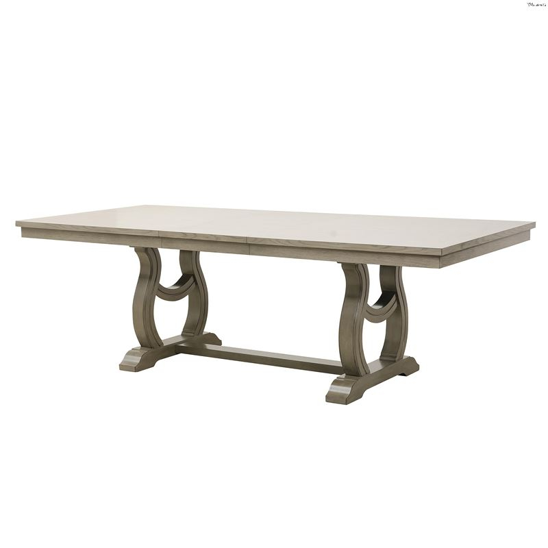 Servin 43'' Pedestal Dining Tables Intended For Famous Vermillion Double Pedestal Trestle Dining Table 5442 (View 17 of 20)