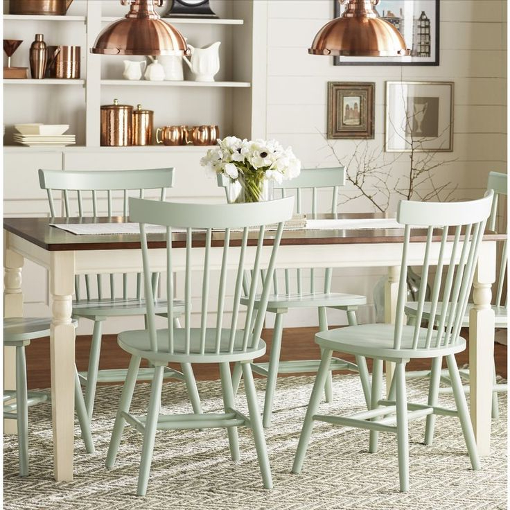 Solid Wood Dining Chairs, Farmhouse In Trendy Leamont (View 5 of 13)