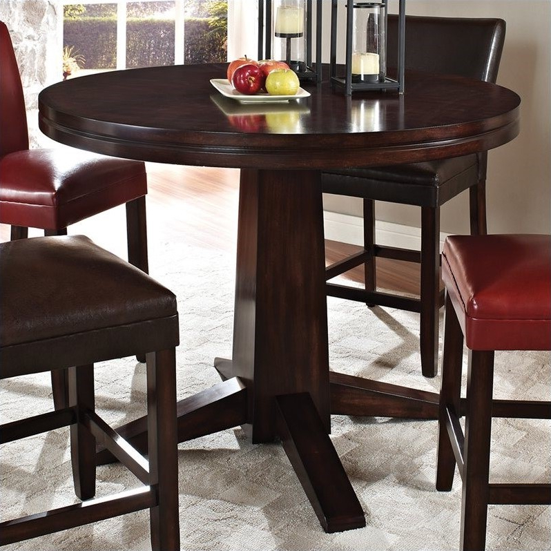 Steve Silver Company Hartford Round Counter Height Dining Regarding Trendy Dallin Bar Height Dining Tables (View 5 of 20)