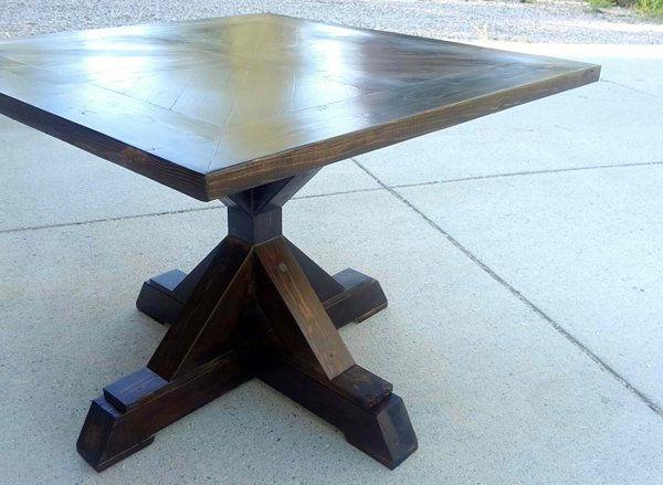 Steven 55'' Pedestal Dining Tables For Favorite 20 Surprising Square Wooden Pedestal Table Bases (View 13 of 20)