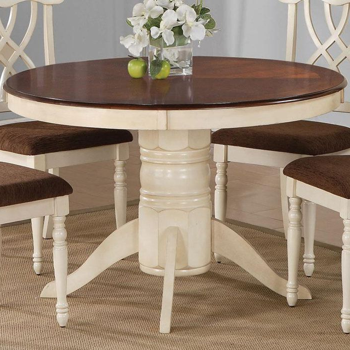Steven 55'' Pedestal Dining Tables Inside Most Up To Date Table Two Tone Painted Oval – Google Search (with Images (View 7 of 20)
