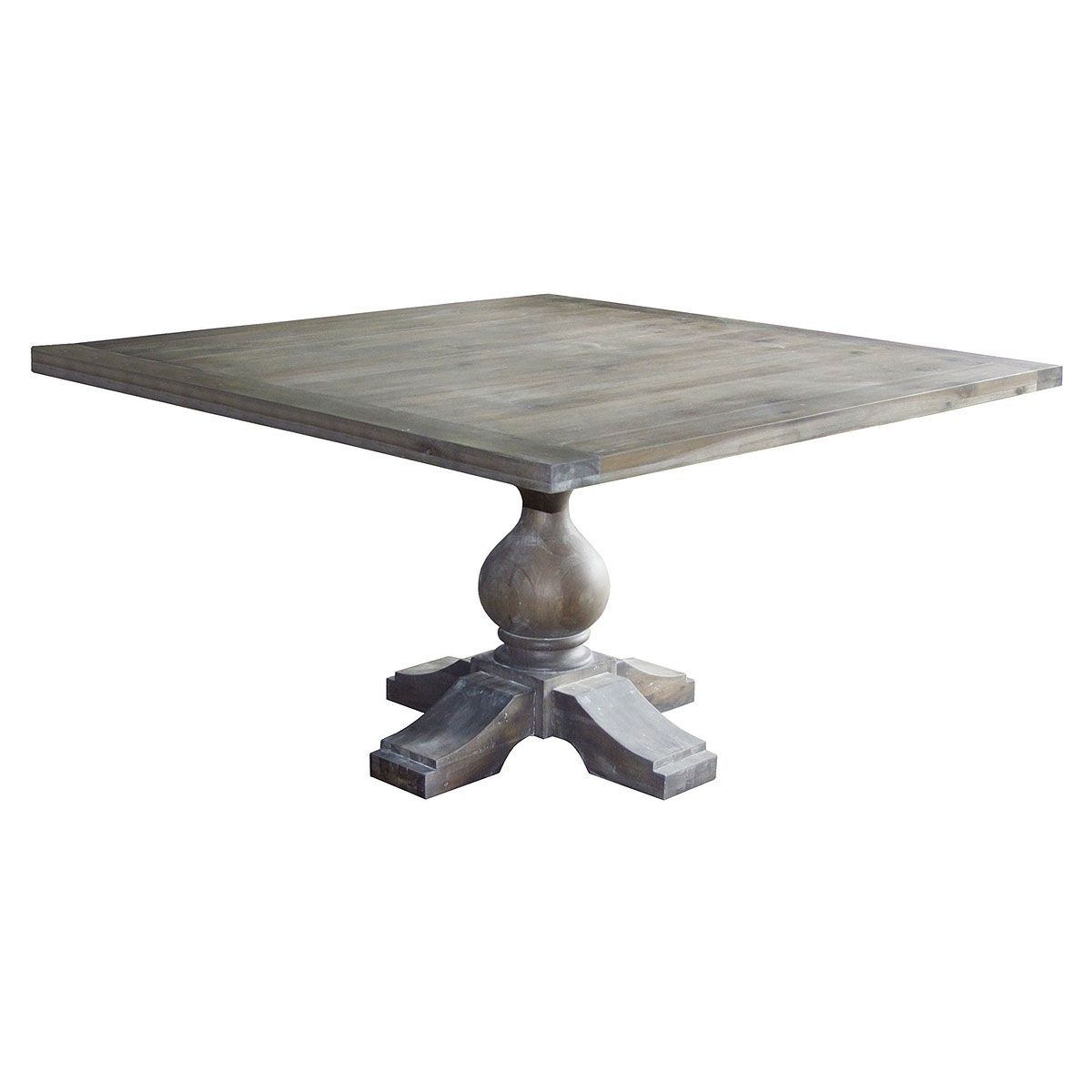 """Steven 55'' Pedestal Dining Tables With Best And Newest Belmont 55"""" Square Dining Table Acacia 55"""" W X 55"""" D X (View 14 of 20)"""