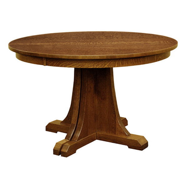 """Tabor 48'' Pedestal Dining Tables With Most Current Mission 48"""" Round Pedestal Dining Table W/ Leaves (View 8 of 20)"""