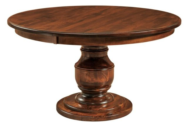"""Tabor 48'' Pedestal Dining Tables With Recent Carlisle Country 48""""d Round Pedestal Dining Table Solid (View 9 of 20)"""