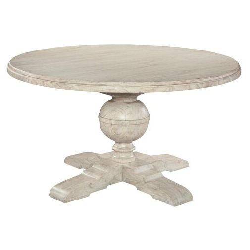 Trendy Steven 55'' Pedestal Dining Tables Inside Homestead Pedestal Extendable Dining Table (View 2 of 20)