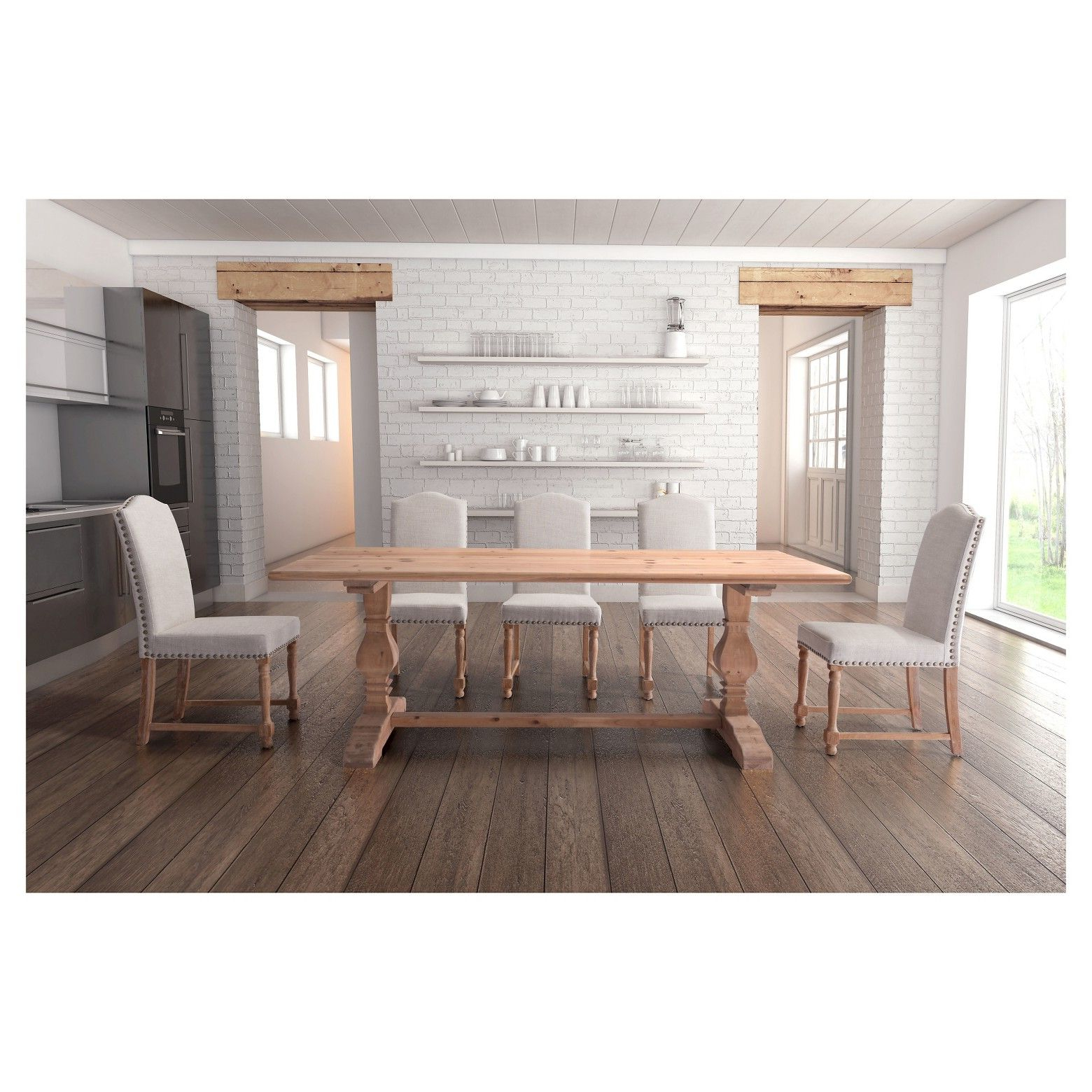 Urban Farmhouse Meets City Couture In The Rectangular With Regard To Current Tudor City 28'' Dining Tables (View 19 of 20)