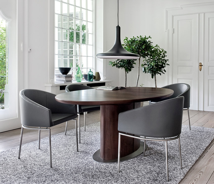 Villani Pedestal Dining Tables Pertaining To Most Popular Oval Pedestal Dining Room Table – Skovby A17273 – Wharfside (View 12 of 20)