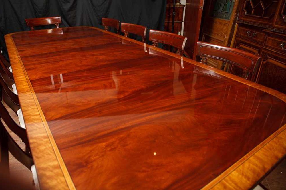 Villani Pedestal Dining Tables With Well Known Mahogany Regency Pedestal Dining Table Diner Extending Tables (View 18 of 20)
