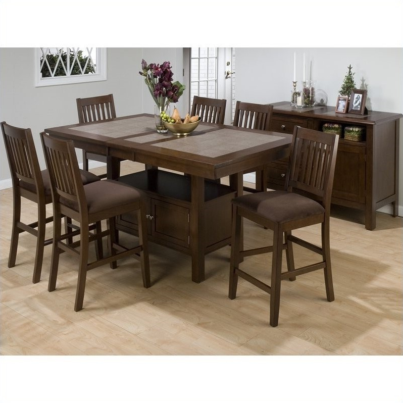 Well Known Dallin Bar Height Dining Tables Intended For Jofran 976 Series Rectangular Counter Height Dining Table (View 11 of 20)