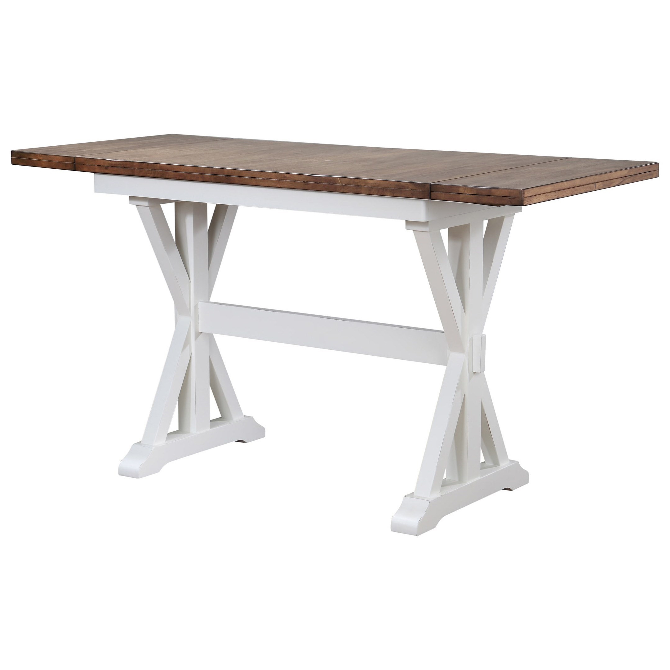 Well Known Desloge Counter Height Trestle Dining Tables Throughout Winners Only Pacifica Counter Height Trestle Dining Table (View 20 of 20)