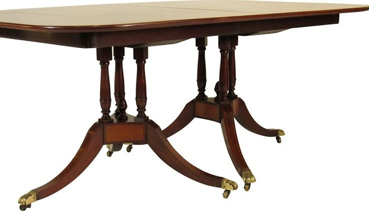 Well Known Regency Style Inlaid Dining Table In 2020 (with Images Within Servin 43'' Pedestal Dining Tables (View 11 of 20)