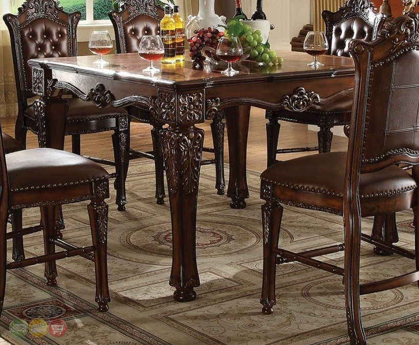 """Well Liked Vendome Formal 54"""" Square Counter Height Dining Table In Regarding Dallin Bar Height Dining Tables (View 6 of 20)"""