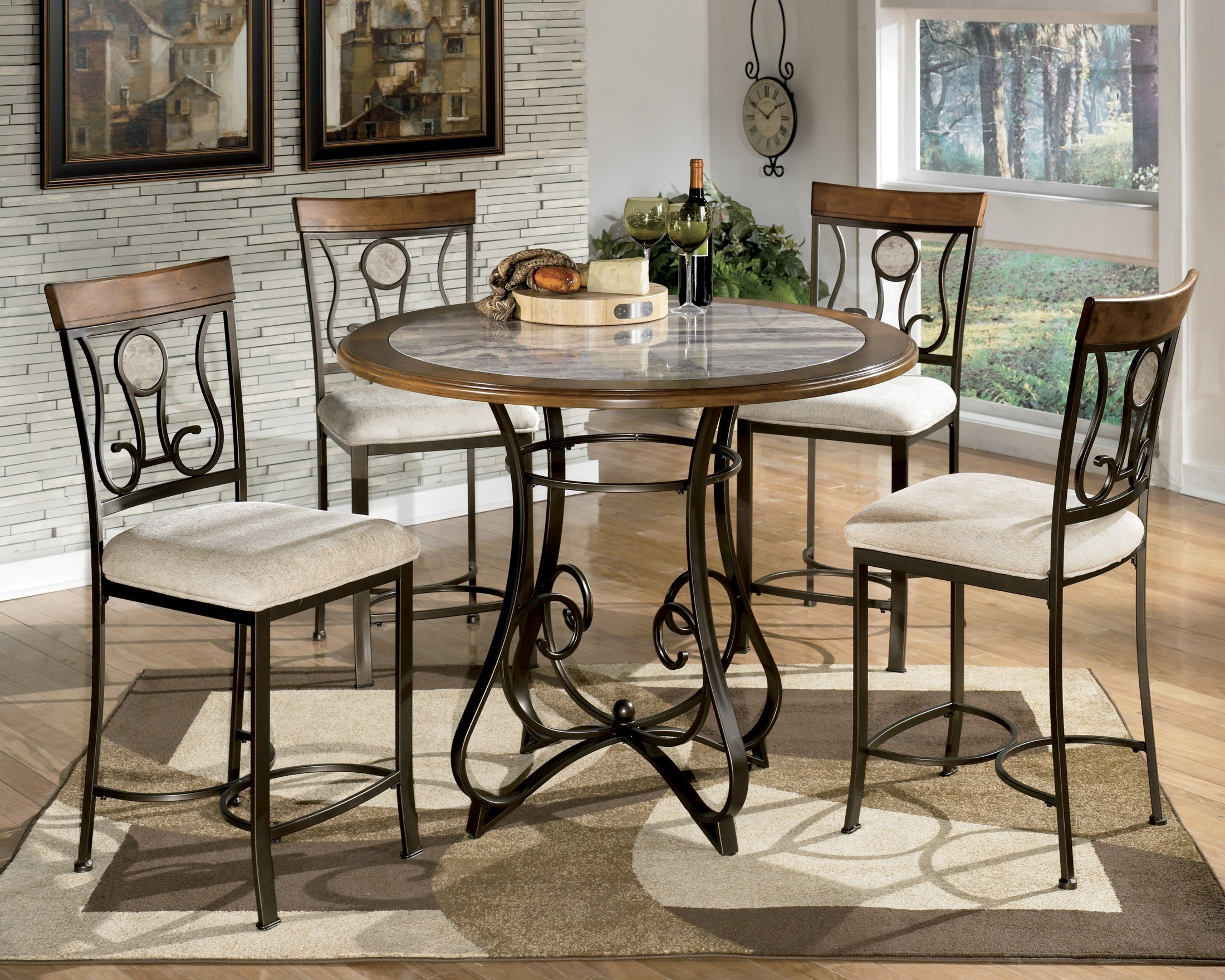 Widely Used Dallin Bar Height Dining Tables Inside Hopstand Round Counter Height Dining Table, D314 13t B (View 4 of 20)