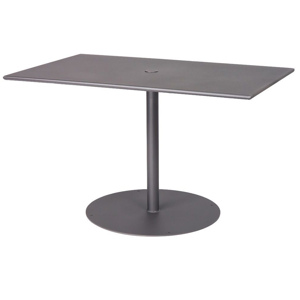 """Woodard Wrought Iron Ada 48"""" Rectangular Dining Table Pertaining To Most Current Exeter 48'' Pedestal Dining Tables (View 7 of 20)"""