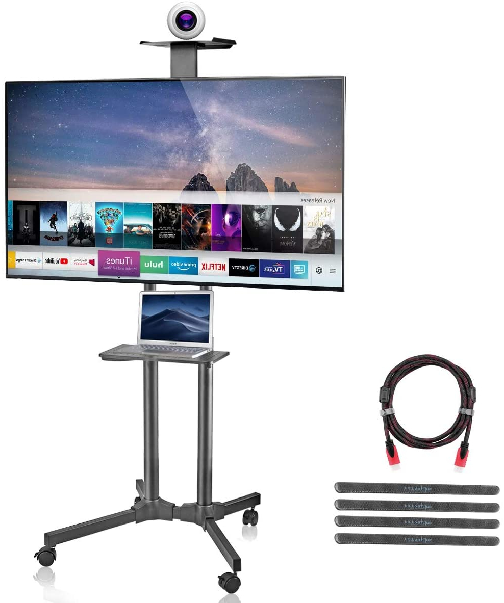 10 Best Rolling Tv Stands In 2020   Unbiased Review With Regard To Rolling Tv Cart Mobile Tv Stands With Lockable Wheels (View 16 of 20)