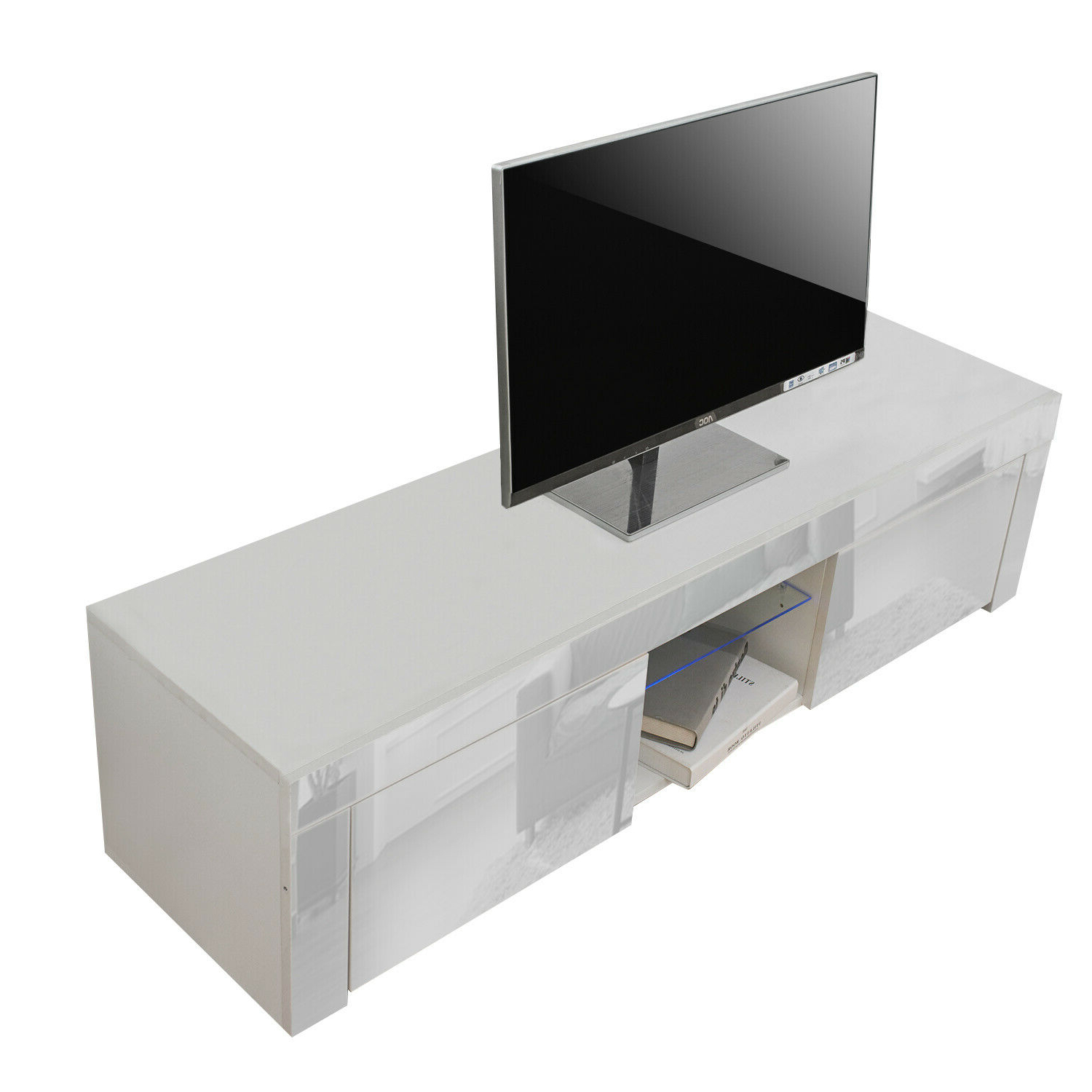 130cm Tv Unit Cabinet Tv Stand Storage Drawer High Gloss Within Solo 200 Modern Led Tv Stands (View 15 of 20)