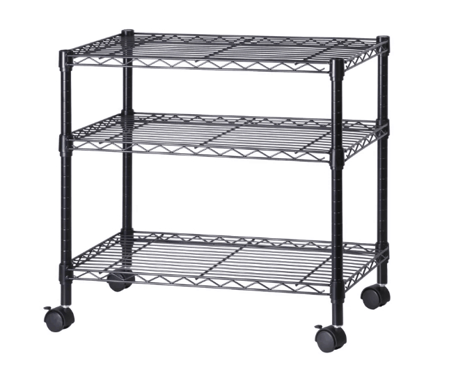 14 Best Small Tv Stands For 2019 Intended For Modern Black Tv Stands On Wheels With Metal Cart (View 17 of 20)
