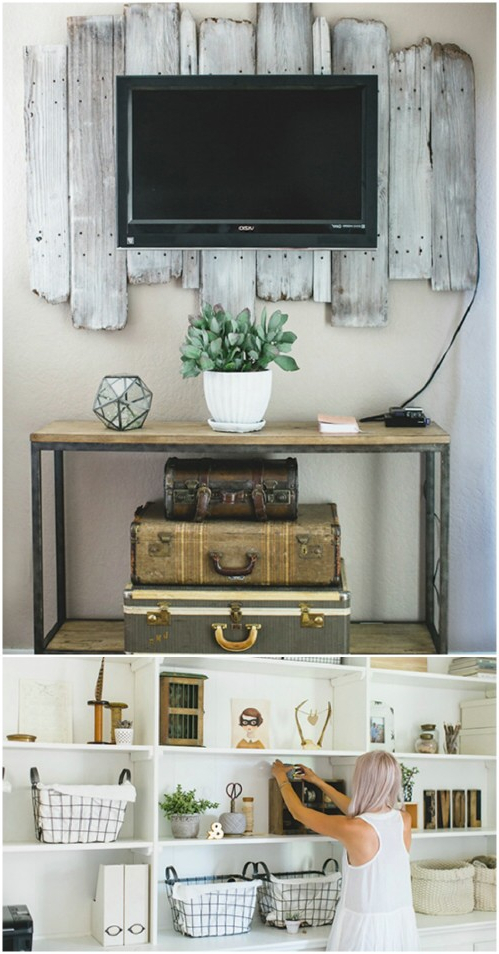 25+ Decorative Rustic Storage Projects Pertaining To Farmhouse Woven Paths Glass Door Tv Stands (View 18 of 20)
