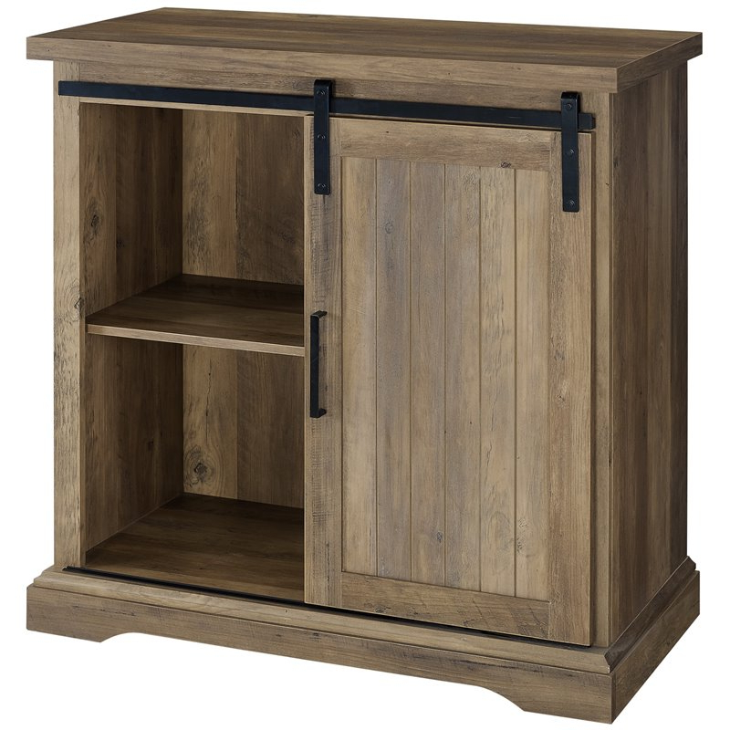 """32"""" Modern Farmhouse Grooved Door Accent Tv Stand – Rustic Pertaining To Grooved Door Corner Tv Stands (View 11 of 20)"""