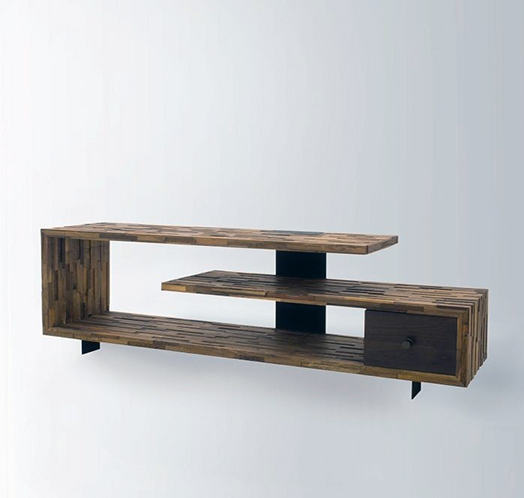 35 Supurb Reclaimed Wood Tv Stands & Media Consoles Inside Modern Black Tv Stands On Wheels (View 18 of 20)