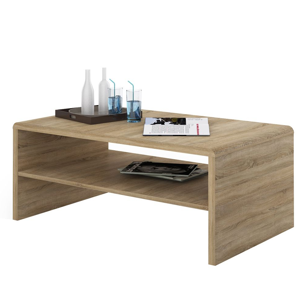 4 You Wide Coffee Table Tv Unit In Sonama Oak Pertaining To Tiva Ladder Tv Stands (View 2 of 11)