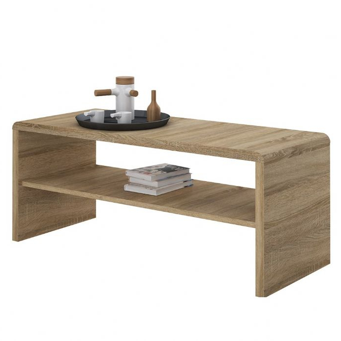 4 You Wide Coffee Table Tv Unit In Sonama Oak Regarding Tiva Ladder Tv Stands (View 8 of 11)