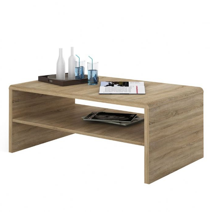 4 You Wide Coffee Table Tv Unit In Sonama Oak Throughout Tiva Ladder Tv Stands (View 6 of 11)