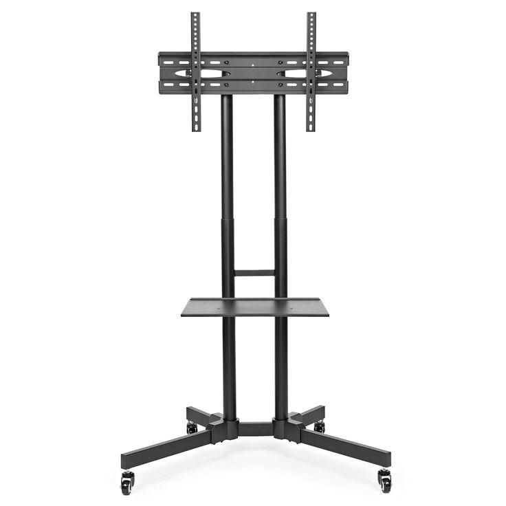 40 Reference Of 65 Inch Tv Stand With Wheels : 65 Inch Tv Regarding Rolling Tv Stands With Wheels With Adjustable Metal Shelf (View 9 of 20)