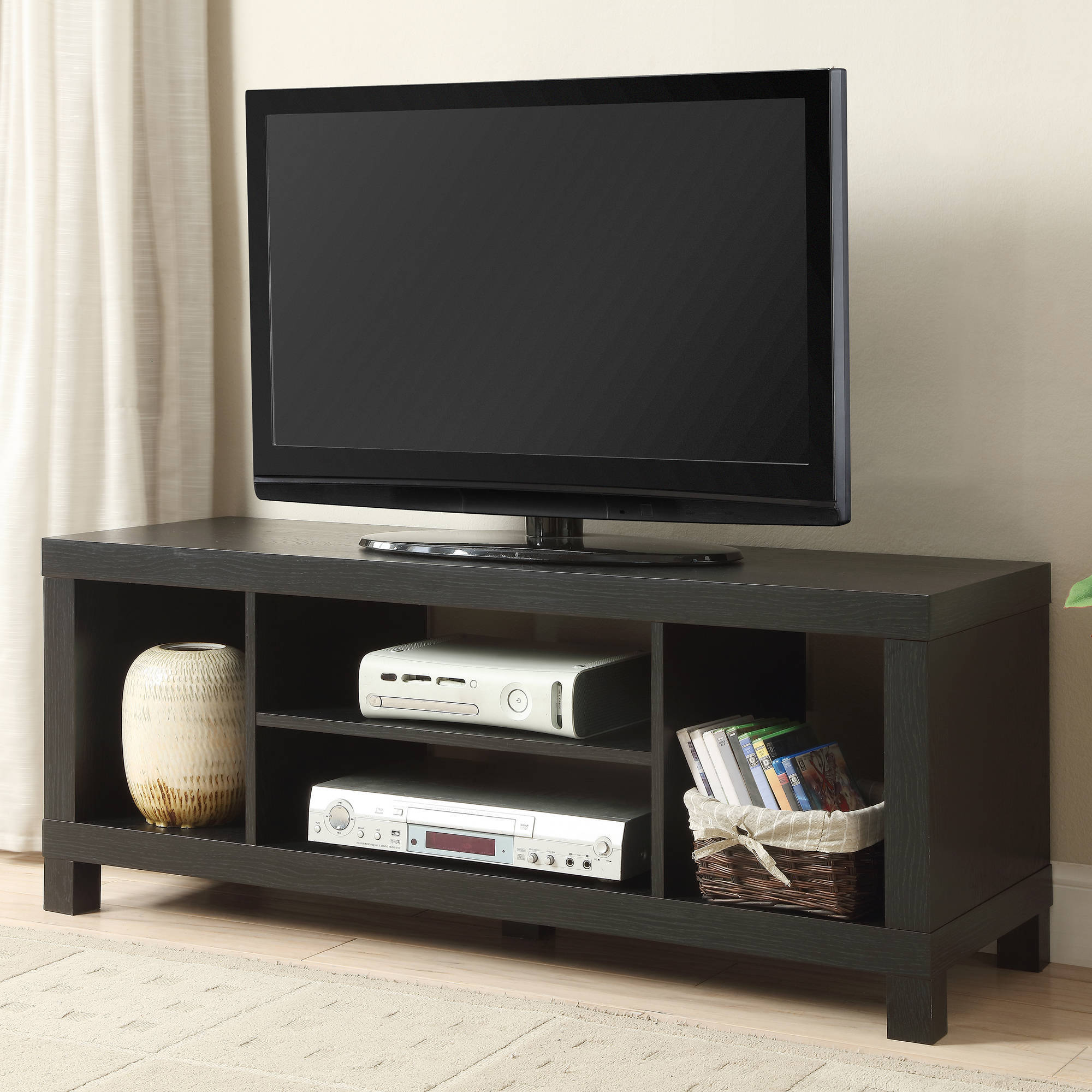 """42 Inch Tv Stand Entertainment Center Home Theater Media Pertaining To Wood Corner Storage Console Tv Stands For Tvs Up To 55"""" White (View 3 of 20)"""