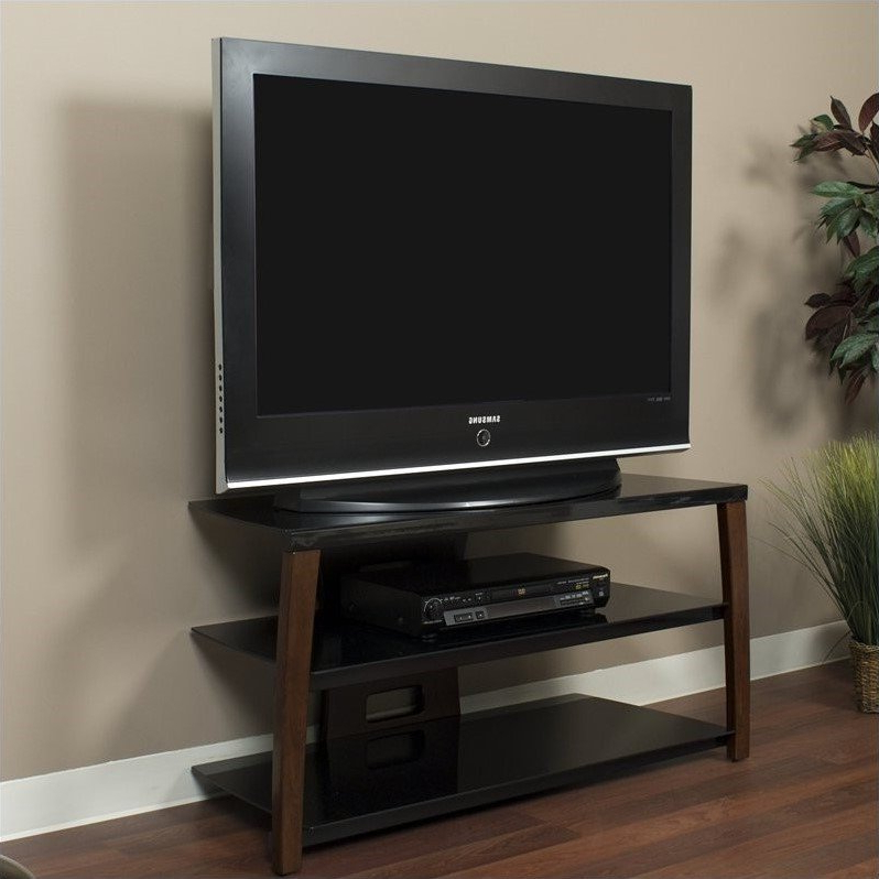 42 Inch Wide Plasma/lcd Tv Stand In Walnut Finish – Xii42w Regarding Orsen Wide Tv Stands (View 11 of 20)