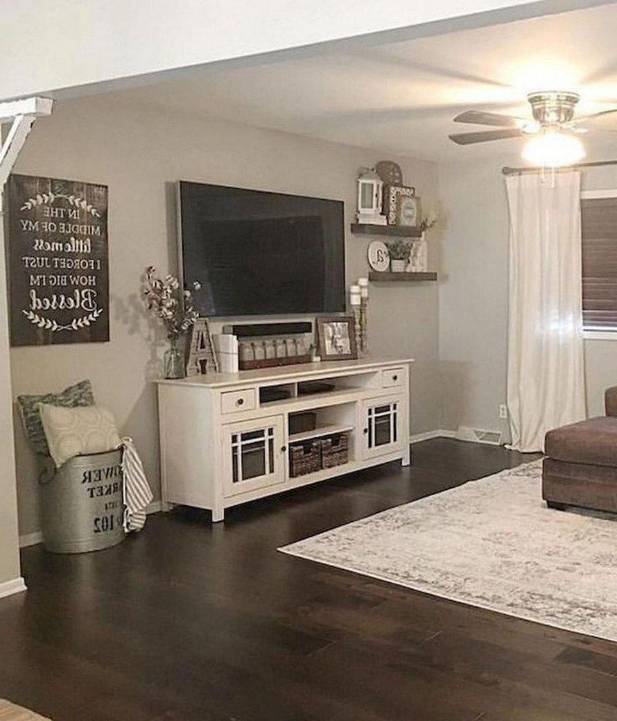 43 Best Farmhouse Living Room Tv Wall Decor Ideas 29 Inside Jackson Corner Tv Stands (View 7 of 20)