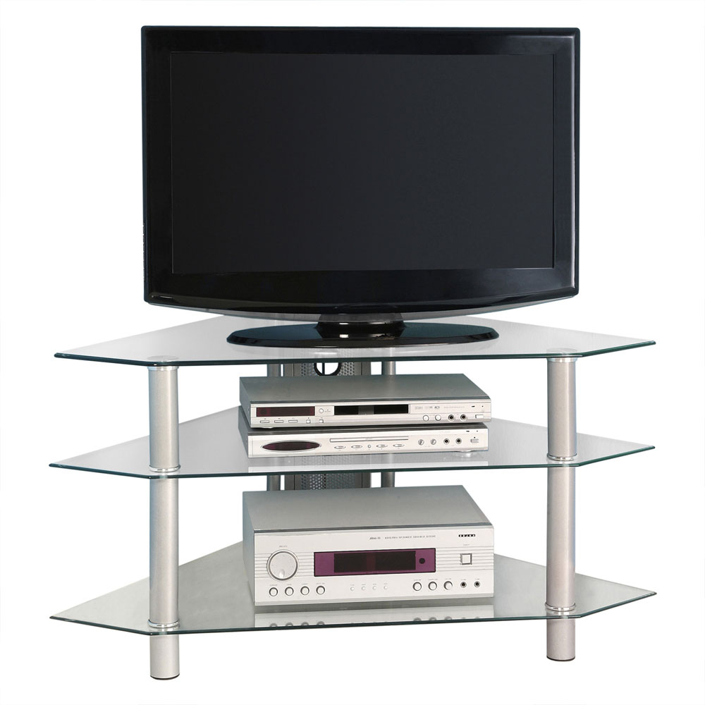 44 Inch Corner Tv Stand In Tv Stands Within Conrad Metal/glass Corner Tv Stands (View 6 of 20)
