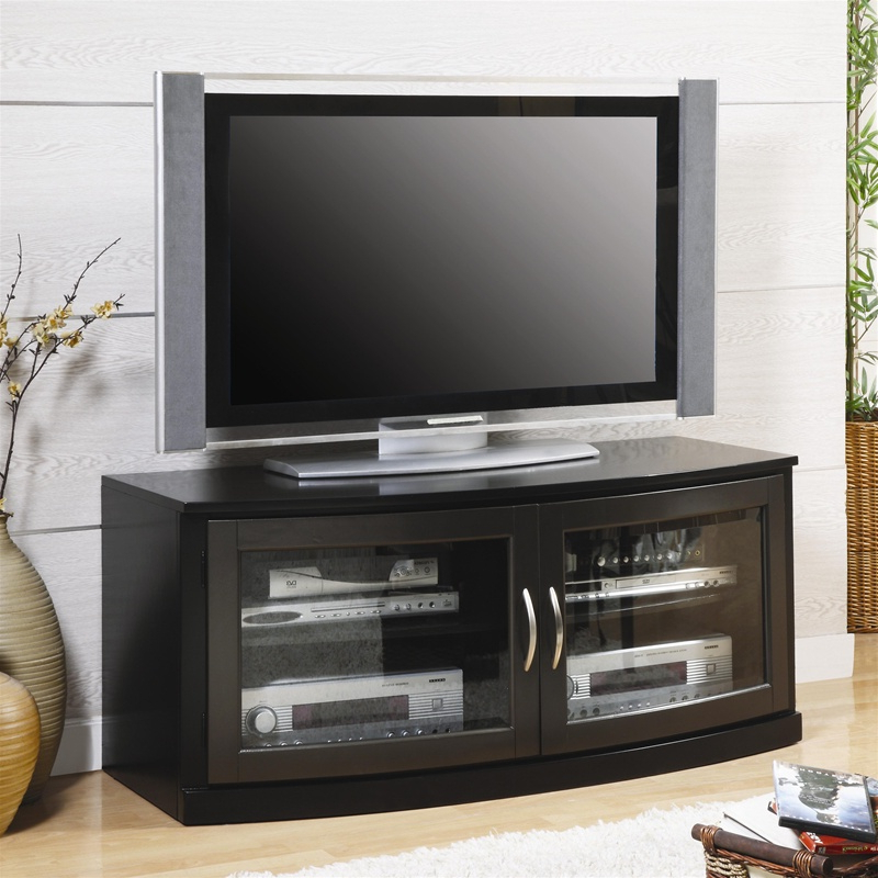 50 Inch Tv Stand In Black Finishcoaster – 700707 Within Rfiver Modern Black Floor Tv Stands (View 10 of 20)