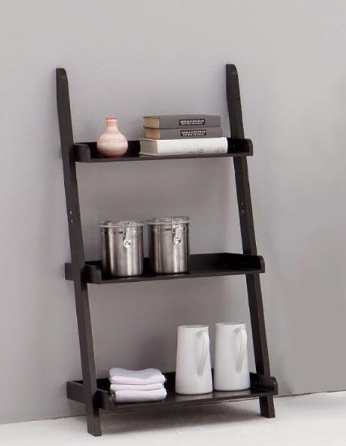 50 Ladder Shelf Image Ideas – White Leaning Ladder Inside Tiva White Ladder Tv Stands (View 9 of 20)