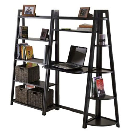 50 Ladder Shelf Image Ideas – White Leaning Ladder With Tiva White Ladder Tv Stands (View 2 of 20)