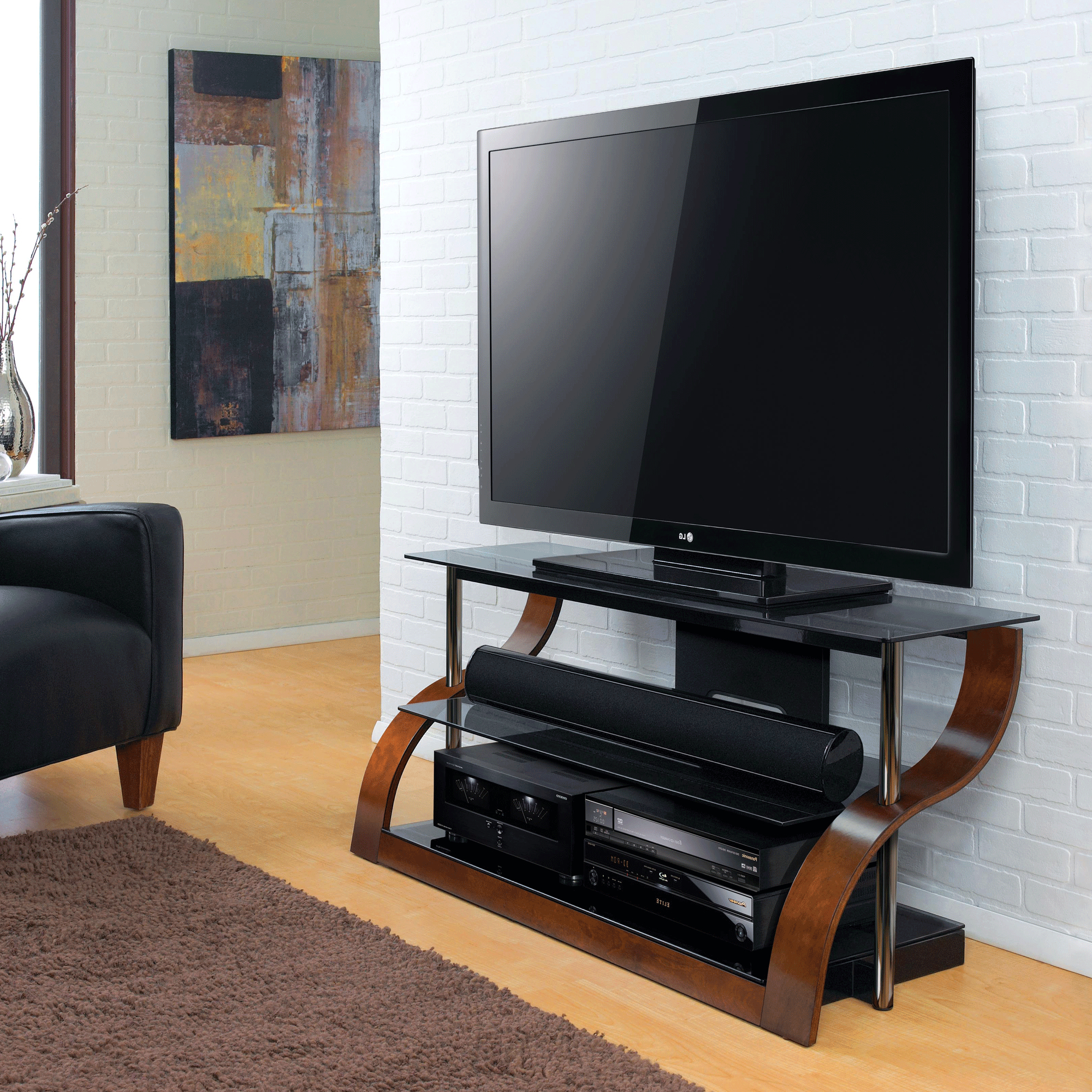 """52"""" Tv Stand For Tvs Up To 55"""", Espresso – Bernie & Phyl's Inside Lansing Tv Stands For Tvs Up To 55"""" (View 17 of 20)"""