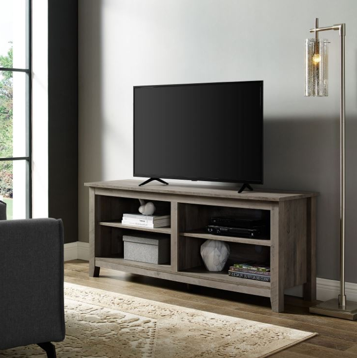 58 Traditional Rustic Farmhouse Wood Tv Media Stand Within Tv Stands In Rustic Gray Wash Entertainment Center For Living Room (View 1 of 20)