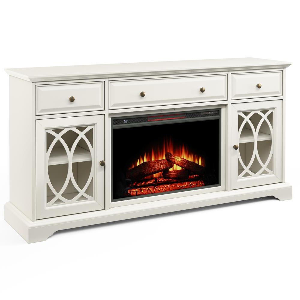 """60'' Segmented Tv Stand With Electric Fireplace – Walmart Regarding Margulies Tv Stands For Tvs Up To 60"""" (View 10 of 20)"""